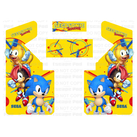 SegaSonic Complete Arcade Art Kit