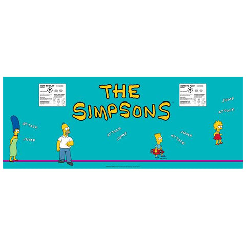 Simpsons CPO - Control Panel Overlay 4 Player Version (SDS)
