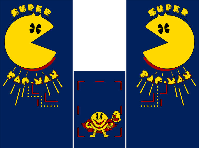 Super Pac-Man Full Side Art/Kickplate Set