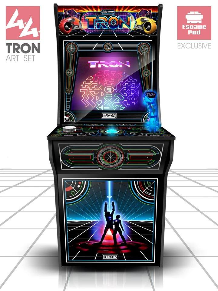 Arcade1up Tron Complete Art Kit Escape Pod Online