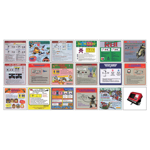 VS Nintendo Red Tent Instruction Cards