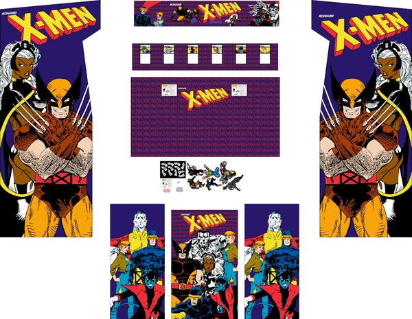 X-Men 6 Player Complete Graphics Restoration Kit