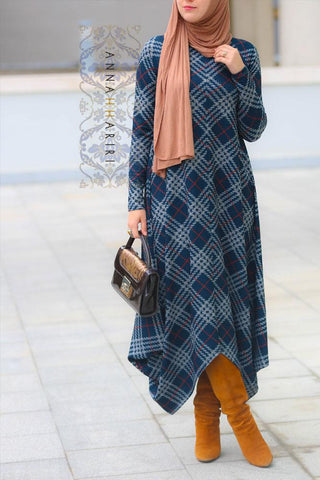 Asymmetric Tunic Dress   اسيماتريك تونيك درس