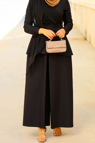 Black Peplum Set