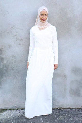 white abaya dress
