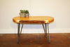 Kyssa Hairpin Leg Live Edge Coffee Table | Hand & Craft Furniture