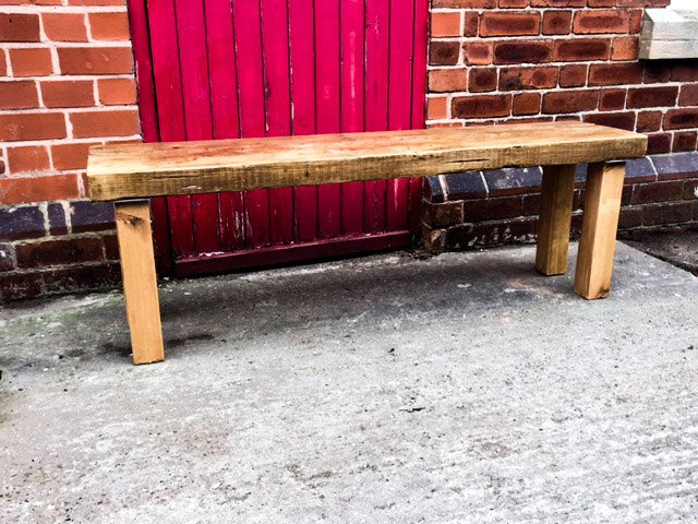 ENN (bench) - Handmade Reclaimed Wood Bench Cafe Bar Restaurant. Custom Made to Order.