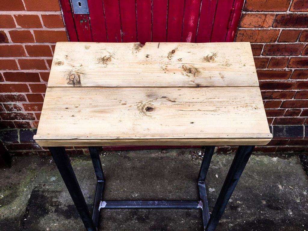 Lecturn Handmade Industrial Chic Lecturn with Reclaimed Wood andBox Section steel legs. Custom Made to Order.