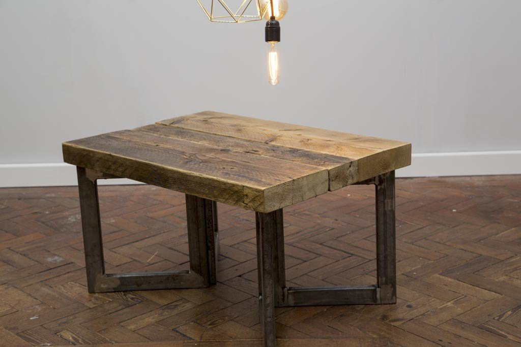 LYSTA - Handmade Industrial Chic Reclaimed Wood and Steel Legs Coffee Table | Hand & Craft Furniture