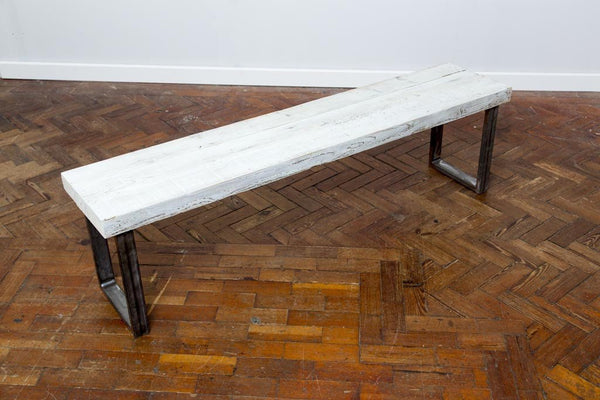 SENN (Large Bench) Industrial Chic Reclaimed Wood Handmade Bench Seat. Custom Made to Order.