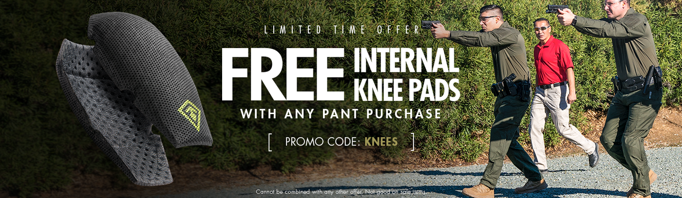 Free Internal Knee Pads with Any Pant Purchase