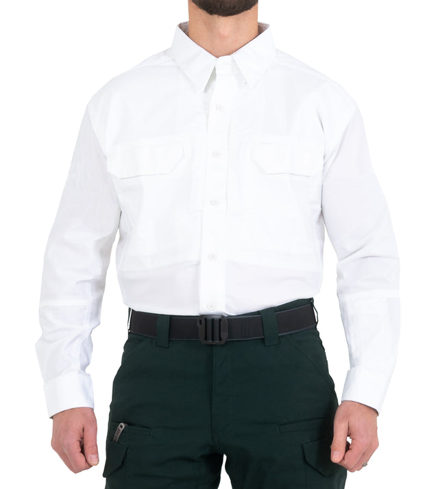 Men's V2 Tactical Long Sleeve Shirt / White