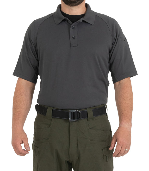 Men's Performance Short Sleeve Polo - Charcoal