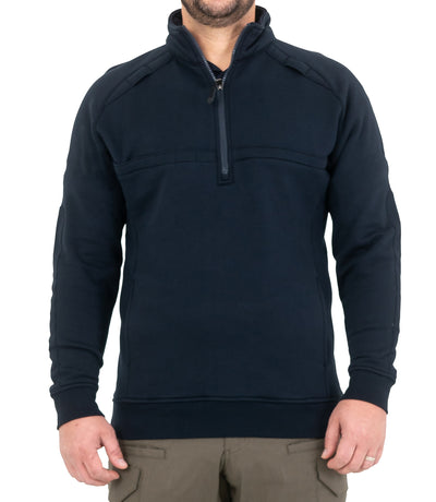 Men's Cotton Job Shirt Quarter Zip