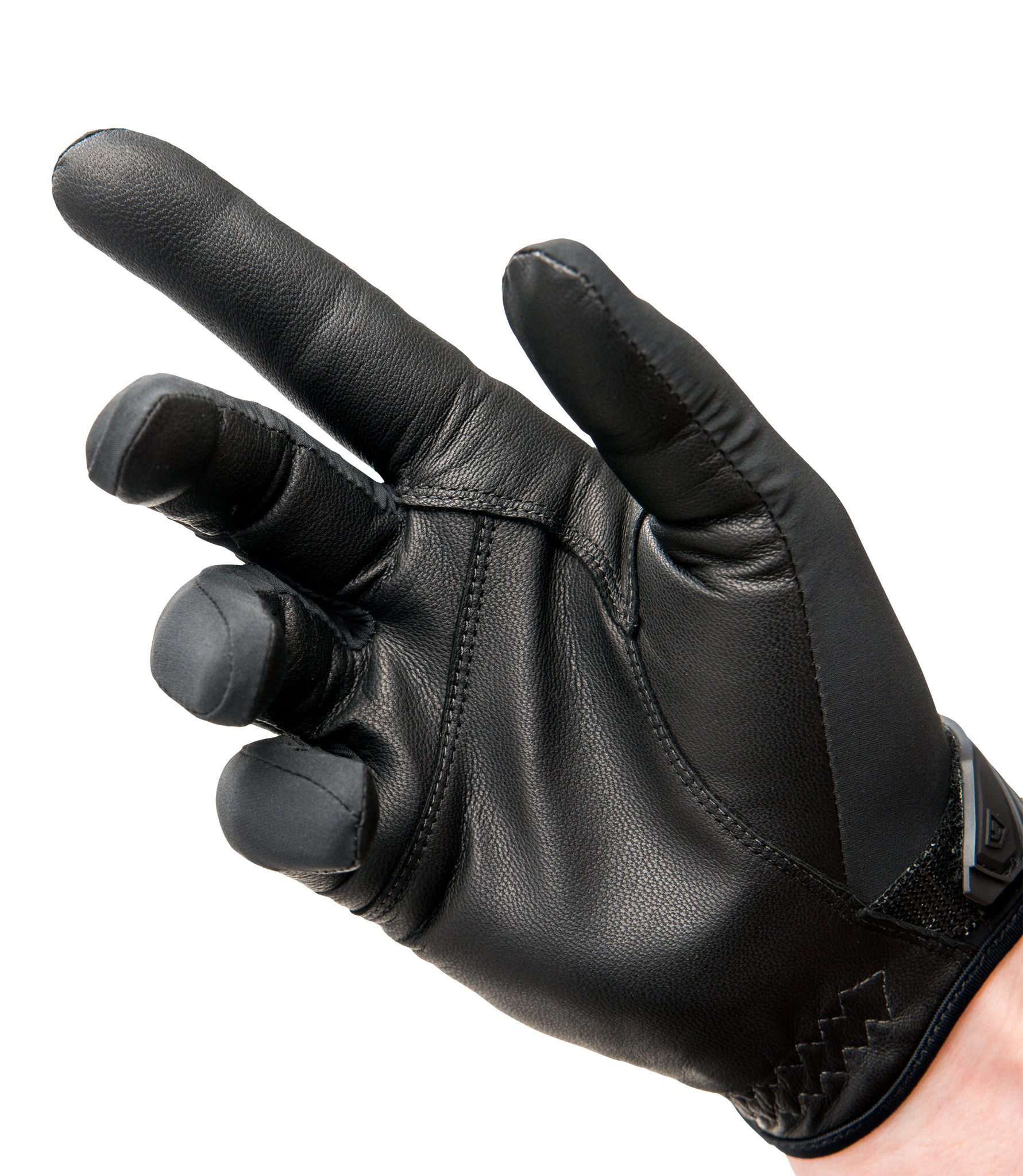 Black gloves mens - Black Fingertips