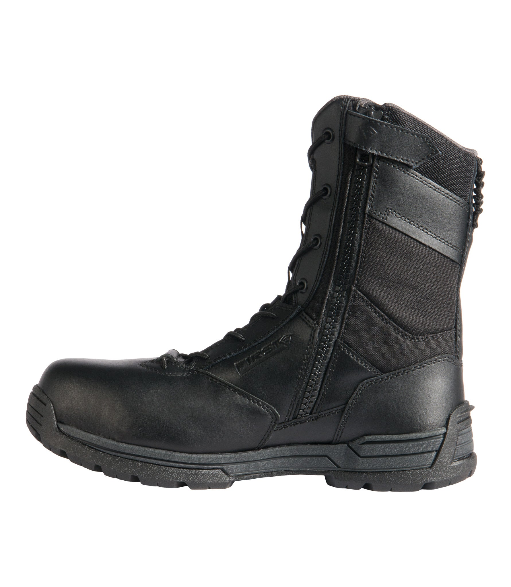 "f7a954809adf Men s 8"" Safety Toe Side Zip Duty Boot"