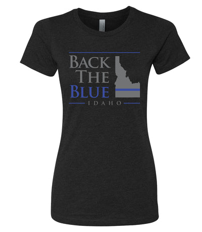 Women's Back The Blue Idaho T-Shirt