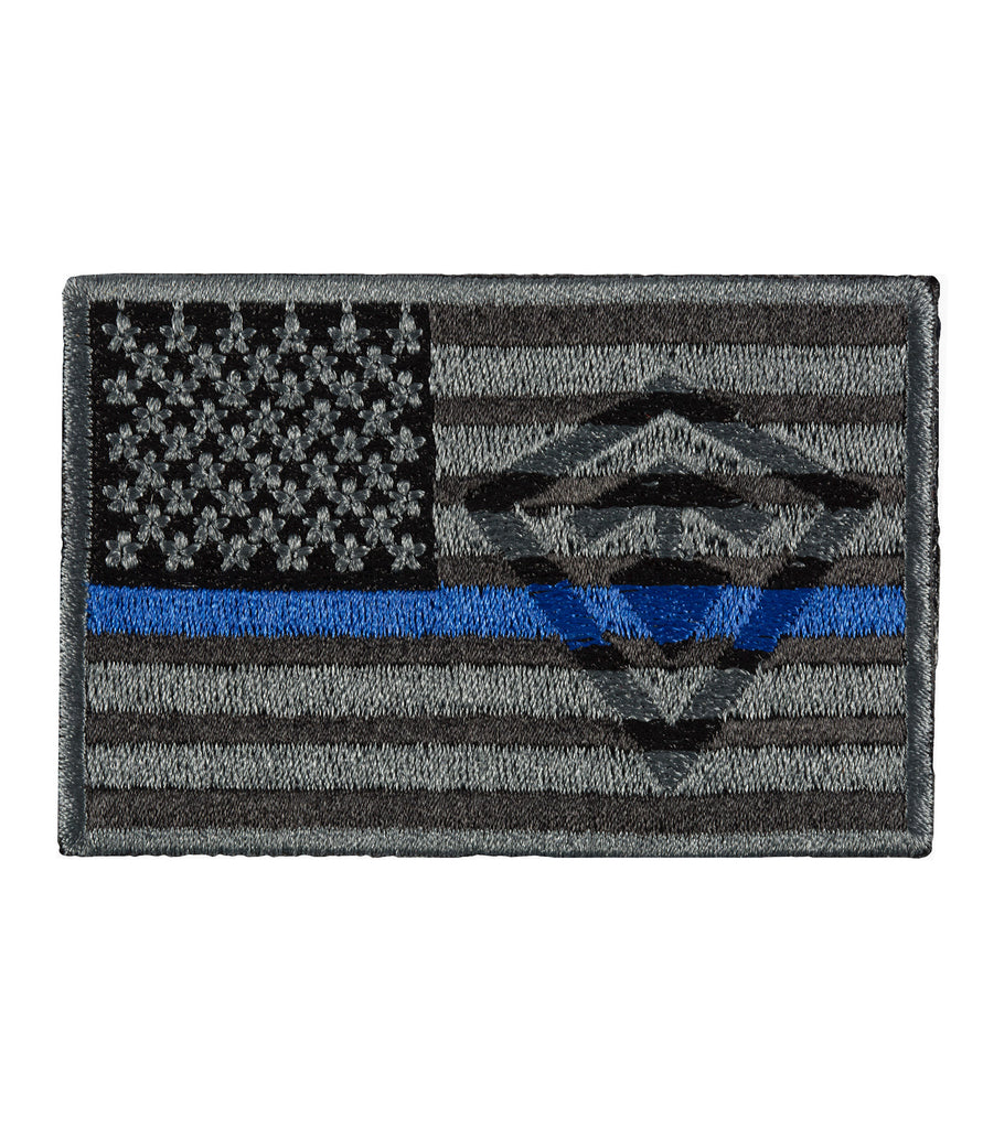 Thin Blue Line American Flag Patch
