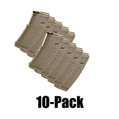 10-Pack Pmags Dark Earth Finish
