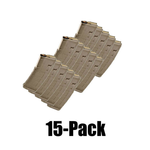 15-Pack Pmags Dark Earth Finish