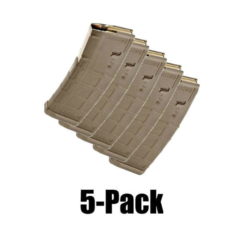 5-Pack Pmags Dark Earth Finish