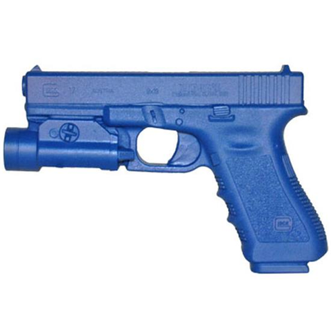 BLUE TRAINING GUNS - GLOCK WITH TLR-1 LIGHT ON IT