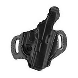 AKER LEATHER 268 Flatside Paddle XR17 Thumb Break Holster - Bullseyebishop  - 2