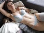 Morgan Mesh Bra in Sky