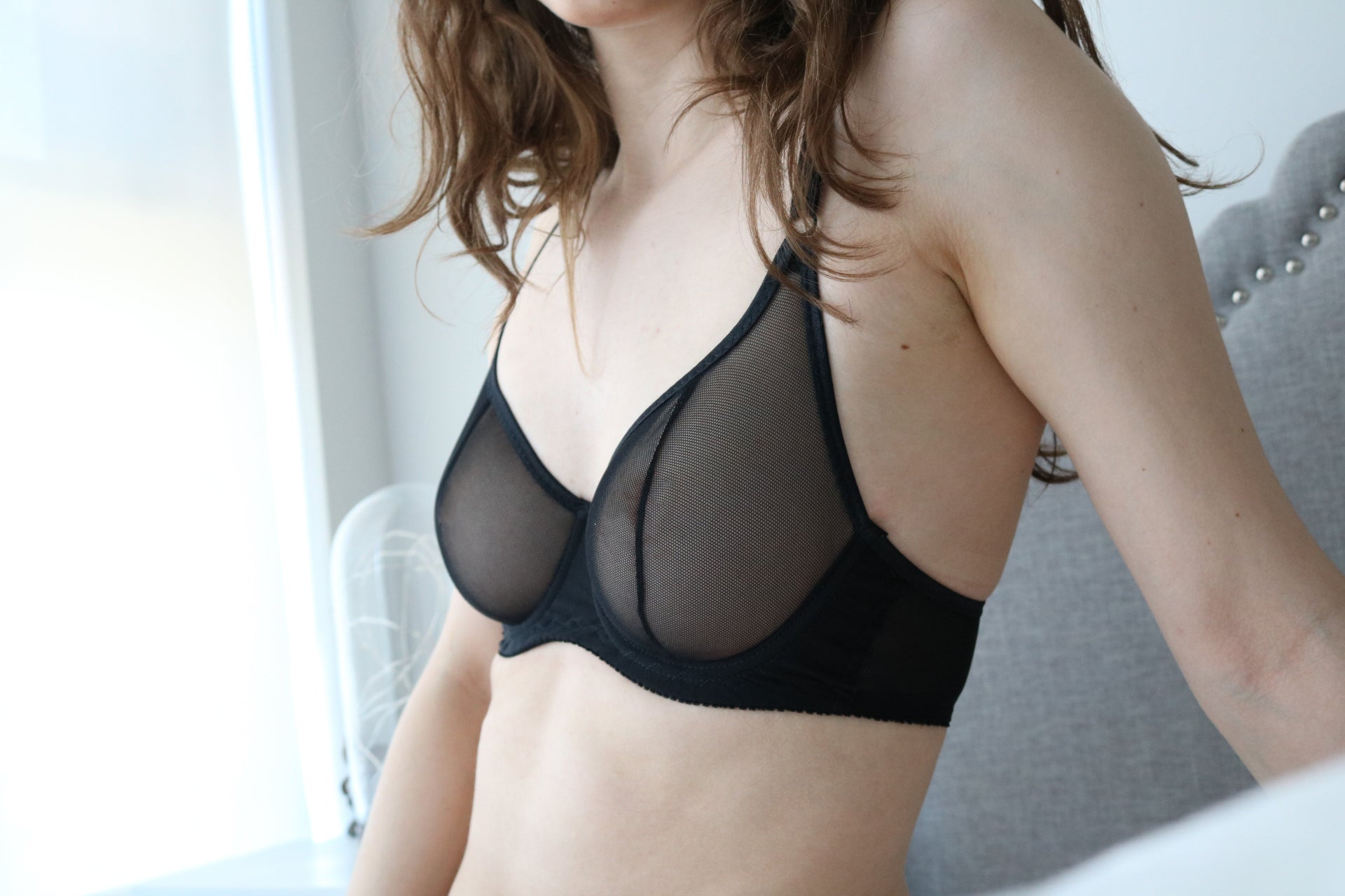Morgan Mesh Bra in Black