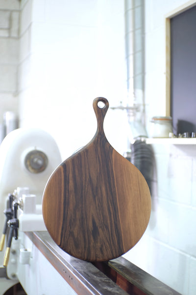 Round French Walnut serving board