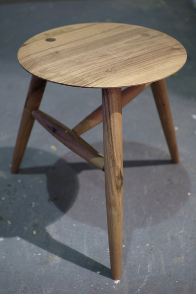 French Walnut stool / side table