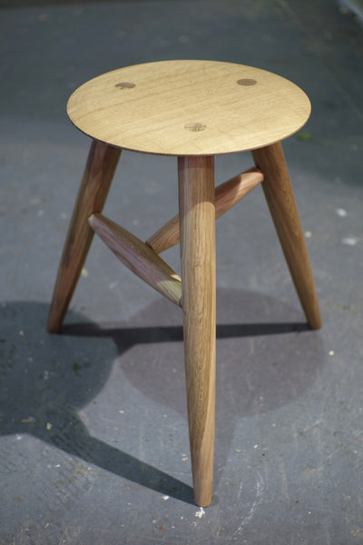 English Oak stool / side table