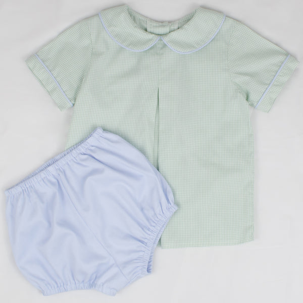 Boys Bloomers, Sky Blue Pique (Ready to Ship)