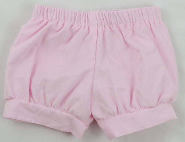 "Girls Banded Shorts, Blush Pink Corduroy ""Ready to Ship"""