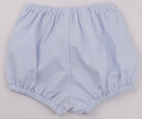 Boys Bloomers, Blue Windowpane (Ready to Ship)