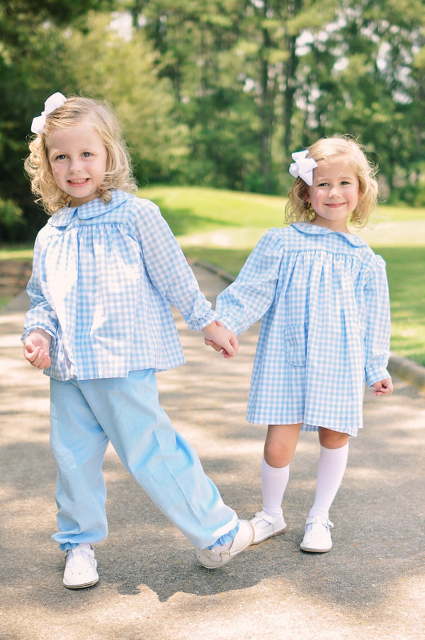 Girls Pantaloons, French blue cord (Preorder Only)