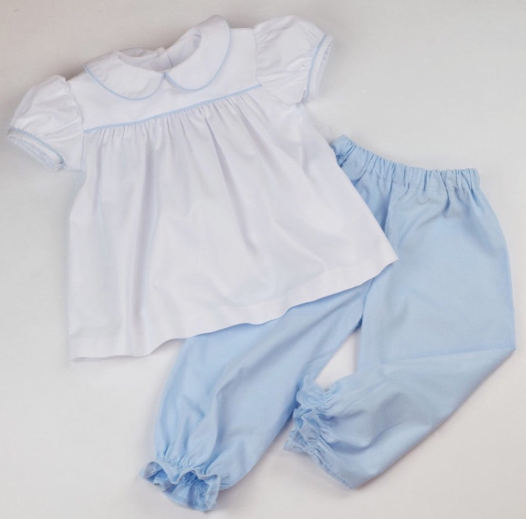 Girls Pantaloons, Light Blue Cord (Preorder Only)