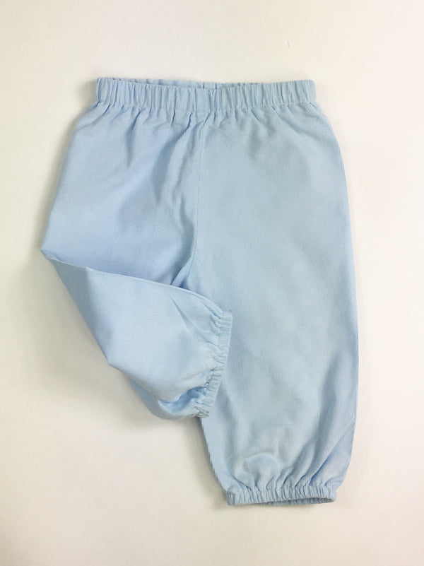 Boys Bloomer Pants, Light Blue Cord (Preorder Only)