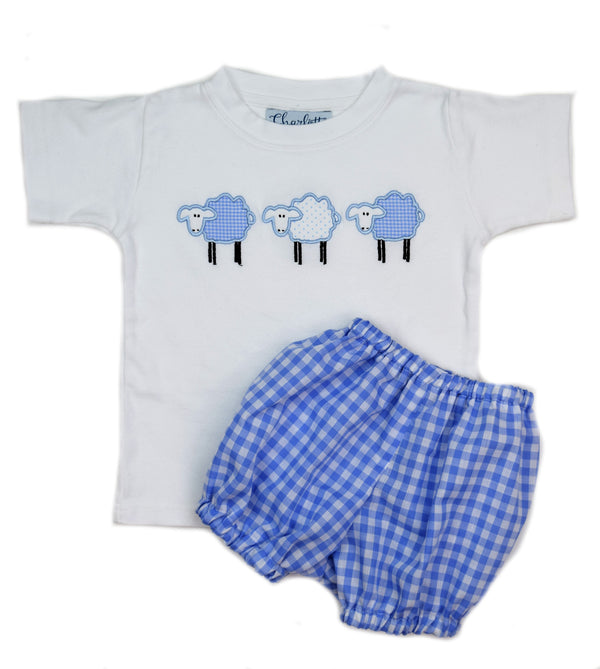 Boys Short Sleeve Tee, Three Sheep