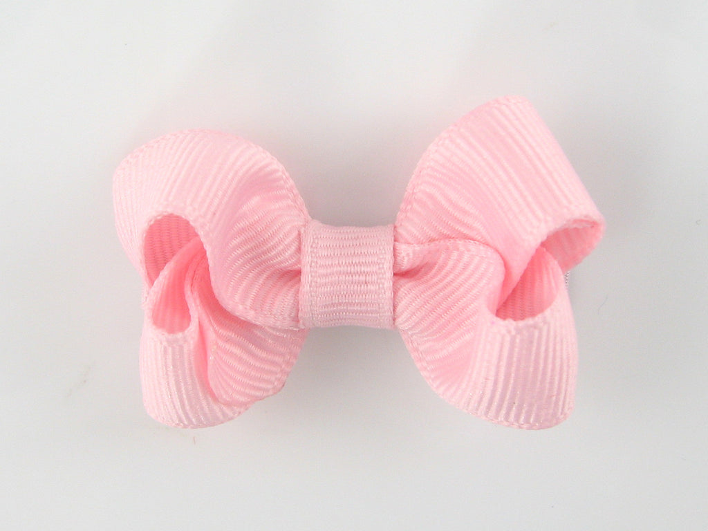 Proper Grosgrain Hair Bow, Pale Pink (small)
