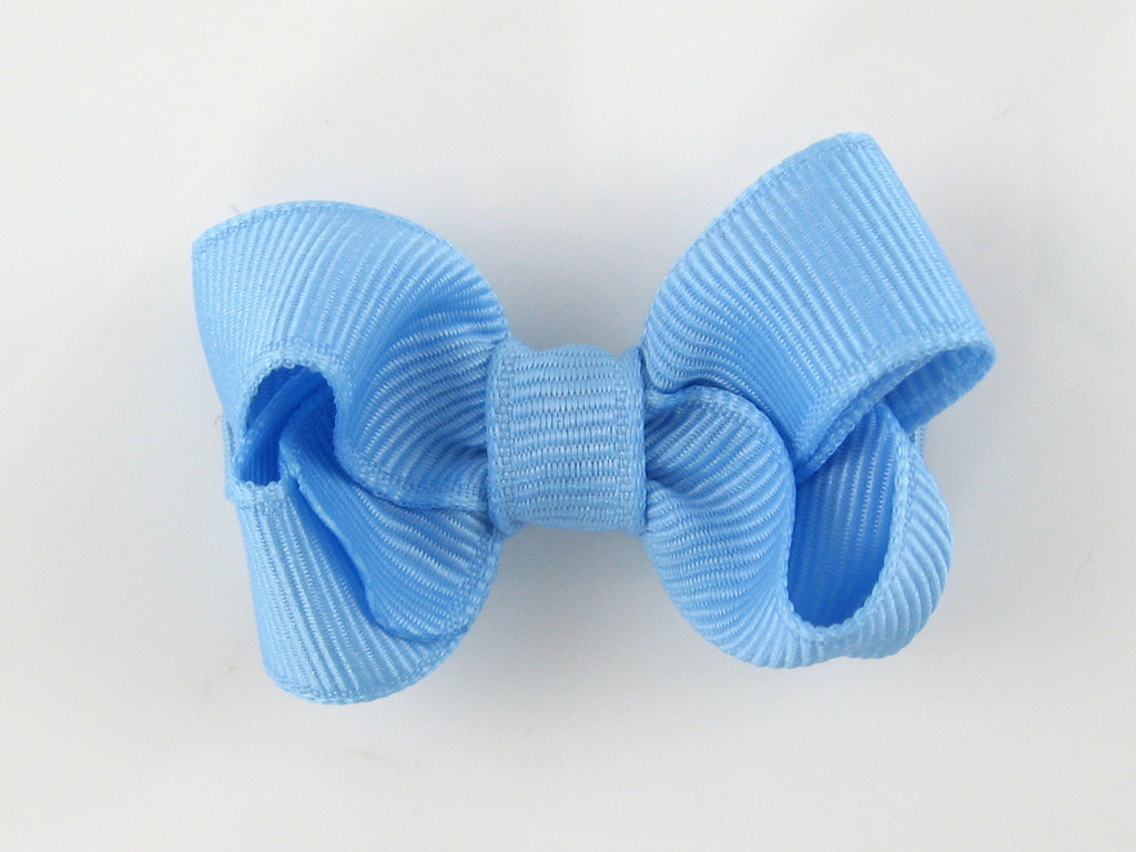 Proper Grosgrain Hair Bow, French Blue (small)