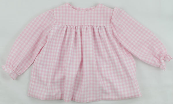 Mary Margaret Top, Pink Buffalo Check