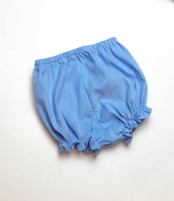 Girls Bloomers, French Blue Cord