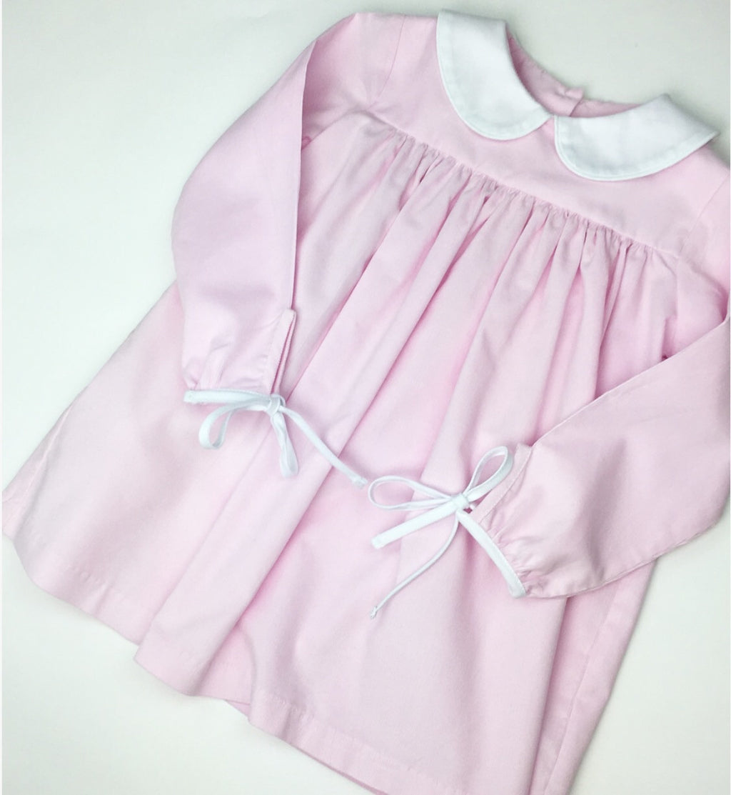 Virginia Grace Dress, Pink Corduroy