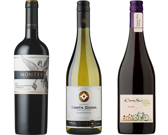 Weinpaket Chile The Valleys (3 x 0,75L)