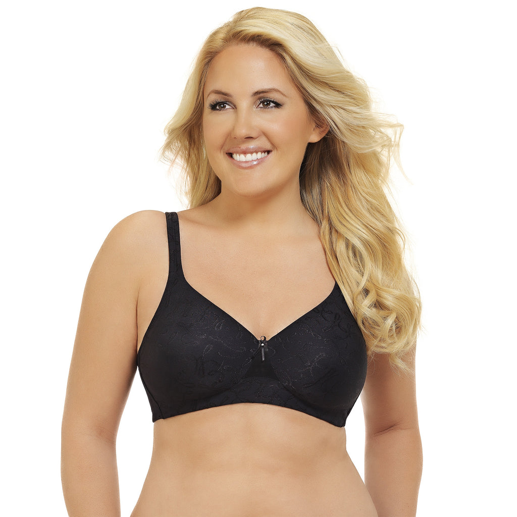 Breathable Comfort Wire free Bra - Black