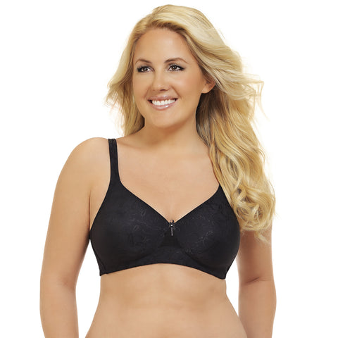 Breathable Comfort Wire free Bra - Black quickview