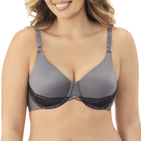 Back Smoother Underwire Bra - Steele Violet/Black quickview