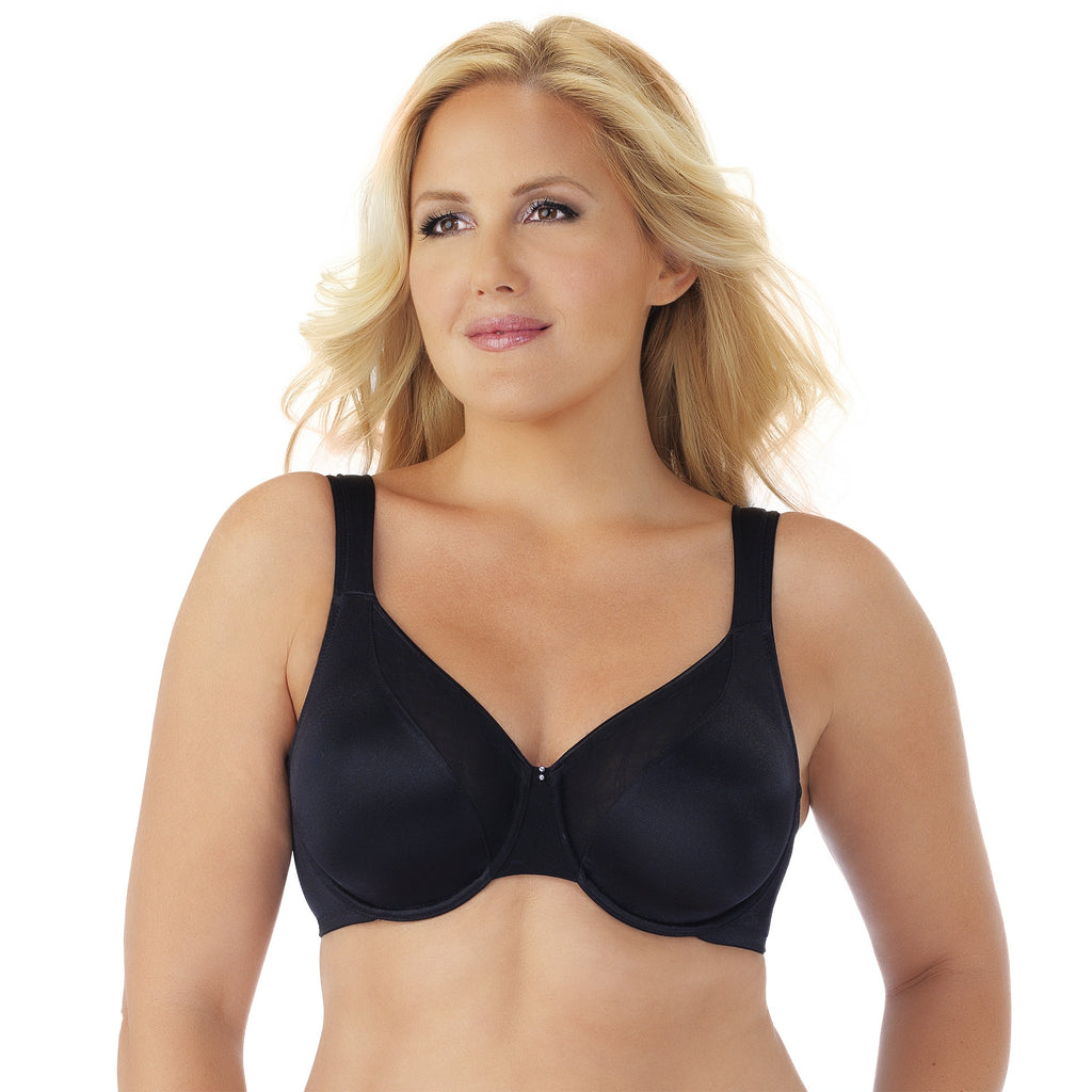 Side Shaper Underwire Bra - Black
