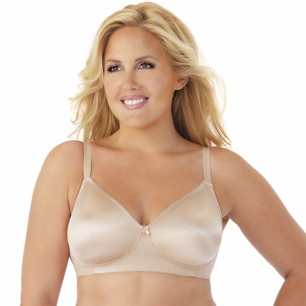 Side Shaper Wire-Free Bra 2 Pack - Latte/White